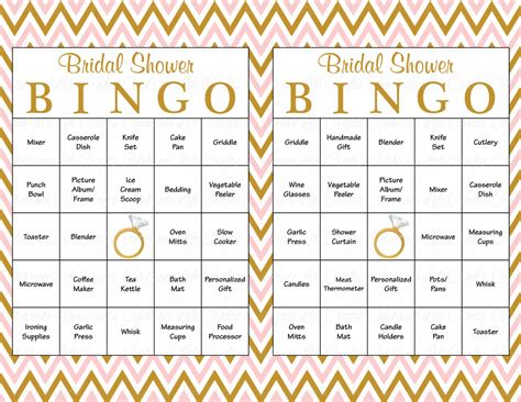 bridal shower printable bingo 60 bridal bingo cards blank 60 prefilled cards printable