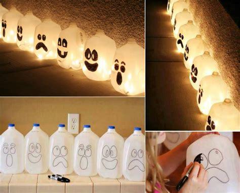 kids halloween craft cute ghost milk jug easy wonderful diy easy halloween lantern from milk jug
