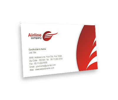 Air Business Card Template by Business Card Design For Airlines Travel Offset Or Digital
