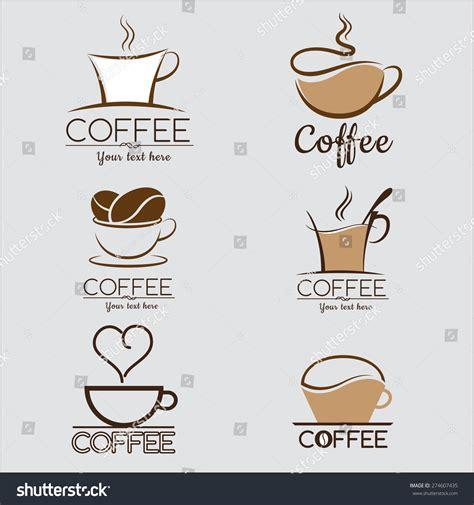 Set Coffee Logo Labels Design Templates Stock Vector 274607435 Shutterstock Coffee Label Design Template