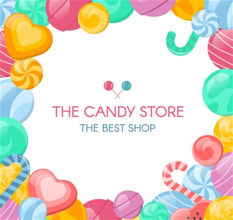 creative candy store posters vector material over