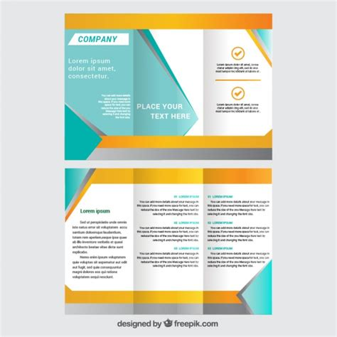 Template Brochure Free by Trifold Brochure Template Vector Free