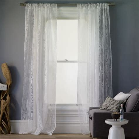 west elm sheer curtains faux bois burnout window panel modern curtains by
