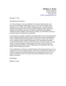 cover letter for project management business project manager cover letter