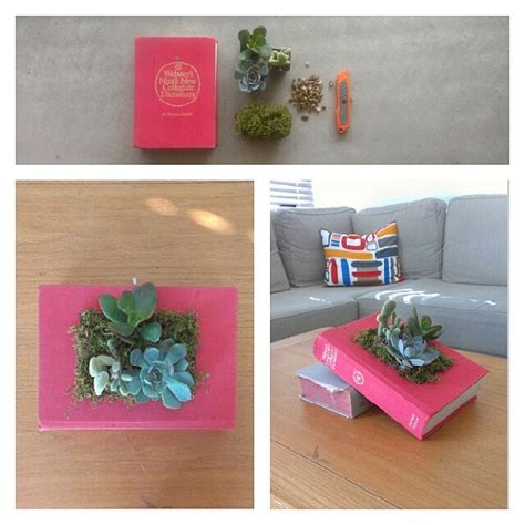 Succulent Book Planter by How To Make A Succulent Book Planter