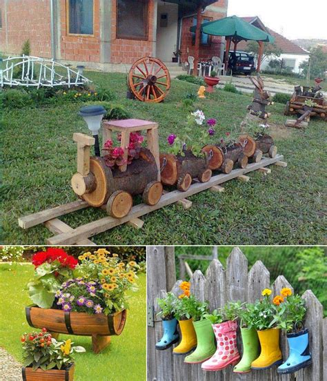 Craft Garden Ideas 5 Cool Planter Ideas For Your Garden To Welcome Http Www Amazinginteriordesign 5