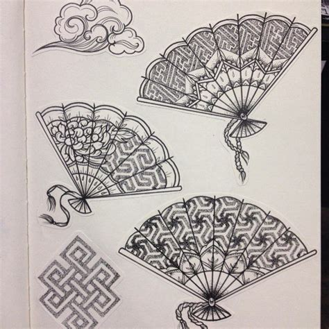 japanese fan tattoo designs 17 best images about geometric dot work tattoos on