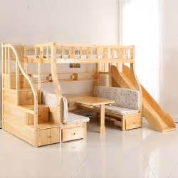 Wood Bunk Bed With Slide Sliding Glass Doors Commercial Picture More Detailed Picture About The Children S Bunk Bed