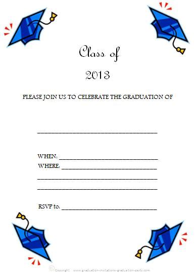 Free Printable Graduation Invitations Great Free Templates Free Printable Graduation Invitation Templates