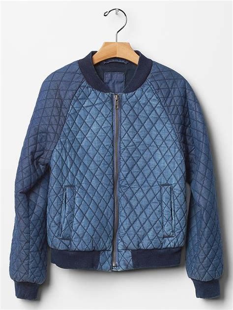Gap Quilted Jacket by Gap Quilted Denim Bomber Jacket From Gap