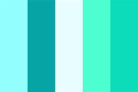 what color is cyan cyan color palette