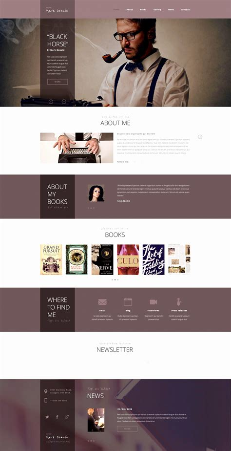 Customizable Website Templates by 10 Customizable Biography Template Sletemplatess