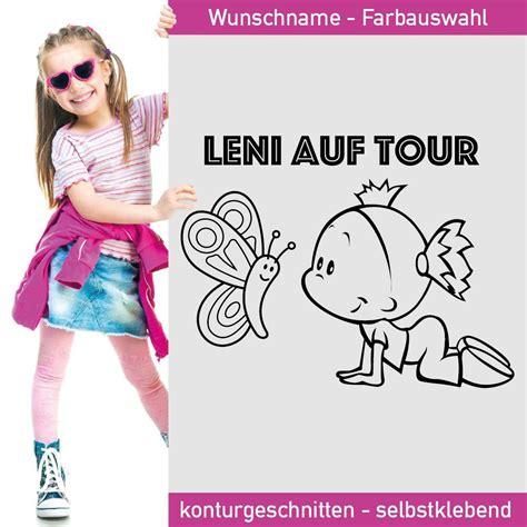 Aufkleber Kinder by Baby Aufkleber Leni Auf Tour Mit Niedlichem Schmetterling