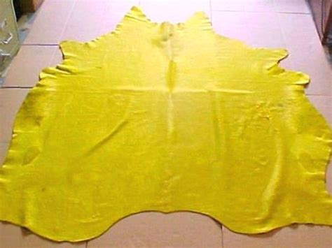 Yellow Cowhide Rug Dyed Solid Yellow Cowhide Rug Yellow Dyed Cowhide