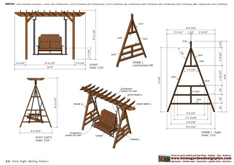 swing designer home garden plans furniture plans arbor swing plans