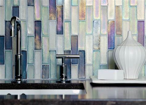 Home Depot Kitchen Backsplash Tiles Iridescent Glass Tile Attractive Appearance For Many