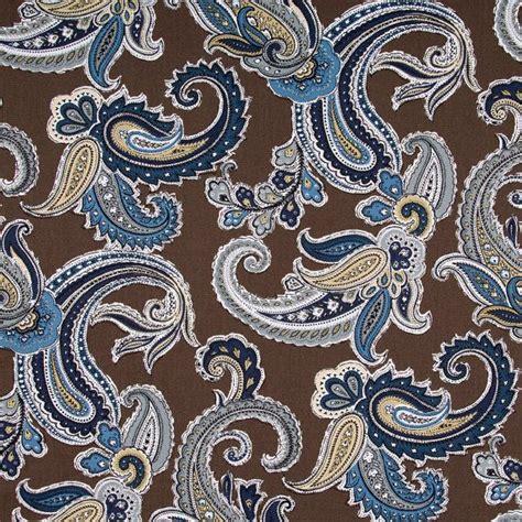 pattern matching upholstery fabric navy blue paisley cotton upholstery fabric blue brown