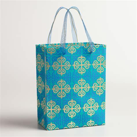 Handmade Small Bags - small gold lattice handmade gift bags set of 2 world market