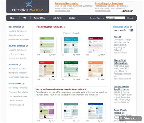 newsletter layout templates free download