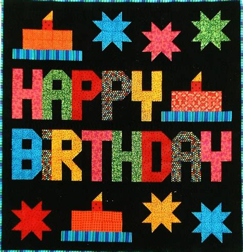Birthday Quilt Pattern by Happy Birthday Quilt Pattern Sp 110 Beginner Wall Hanging
