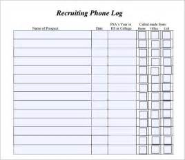 Call Register Template by Activity Log Template Call Log Template All Form Templates