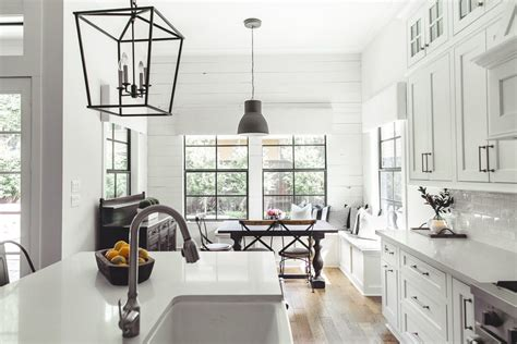 Farmhouse Kitchen Island Lighting Houston Black Window Kitchen Farmhouse With Black Pendant