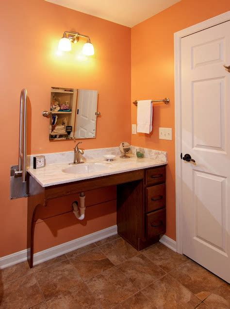 Handicap Accessible Bathroom Vanities W C Accessible Bathroom By Bauscher Construction Of Cincinnati Oh Trifecta Sink Toilet