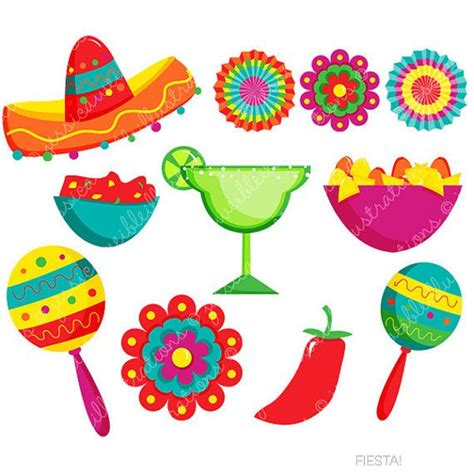 festa clipart digital clipart mexican clipart