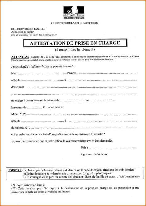 Mod Le De Lettre D Invitation D Hebergement 9 certificat d h 233 bergement mod 232 le curriculum vitae etudiant