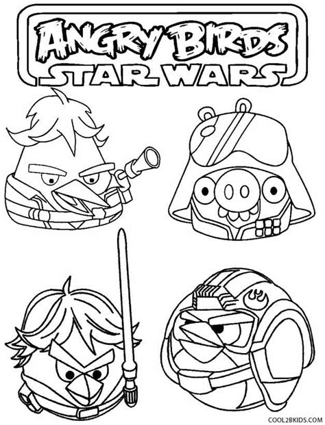 free coloring pages wars angry birds printable angry birds coloring pages for cool2bkids