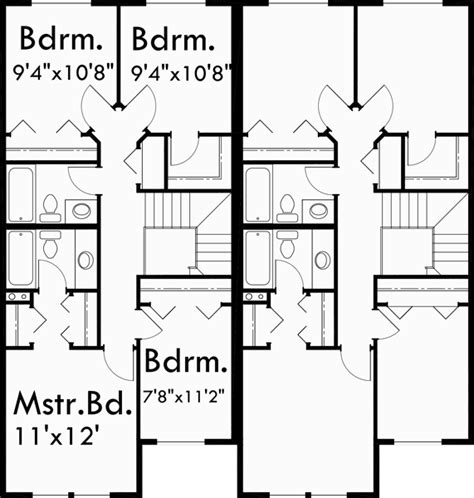 duplex floor plans with double garage two story duplex house plans 4 bedroom duplex plans