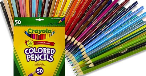 50 crayola colored pencils crayola 50 count colored pencils 3 97 reg 12 99