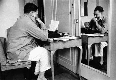 Jfk Information Desk by Ernest Hemingway With A Typewriter In S Dorchester