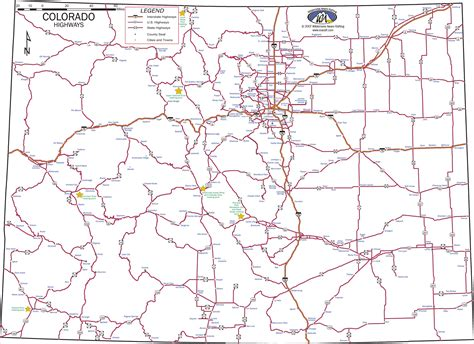 to colorado map colorado highways map colorado mappery