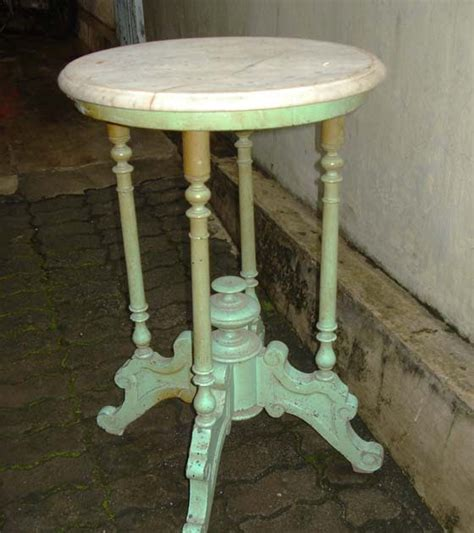 Barang Antik Meja Marmer djadoel antik meja marmer kaki hijau