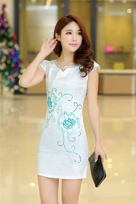 Product Import Jacuard Cheongsam Import Cg4244 White cheongsam dress import ds4098 white tamochi