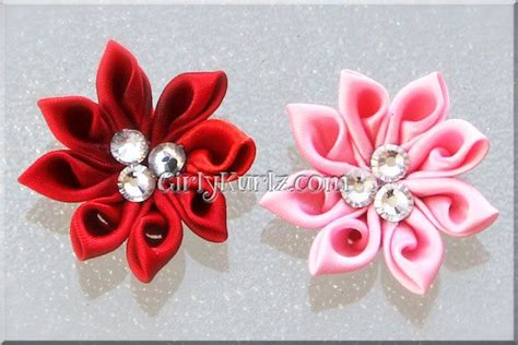 Hair Clip Jepit Rambut Pita Hair Bow Ribbon 25 Best Kanzashi Images On Fabric Flowers
