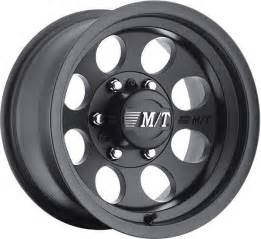 Truck Wheels Mickey Thompson Mickey Thompson 16x8 Alloy Mag Wheel Classic Black Nissan