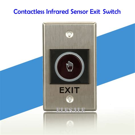 door release button for desk ᗑ contactless infrared sensor exit button 115x70mm