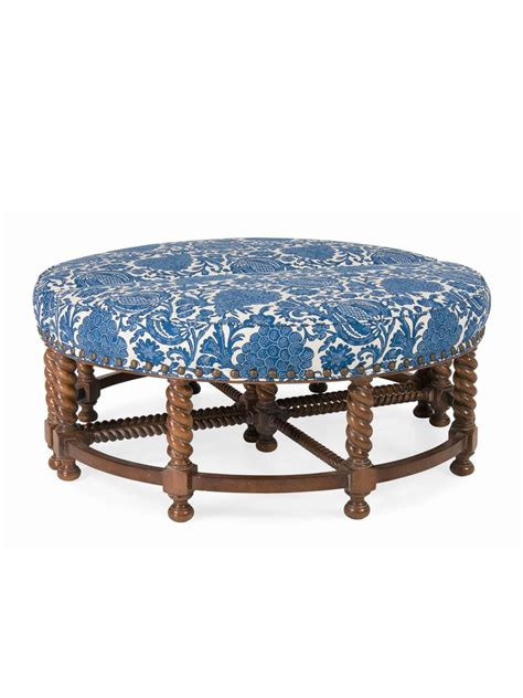 cottage style chairs and ottomans sagamore upholstered ottoman cottage home 174
