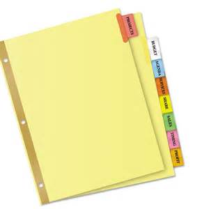 avery big tab 8 template insertable big tab dividers 8 tab letter