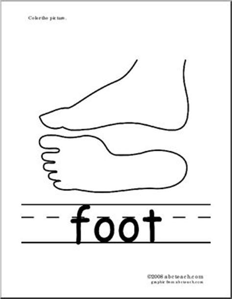 Coloring Page Phonics Foot Abcteach Foot Coloring Pages