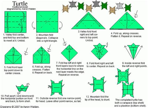 Origami Turtle Diagram - pin by danielle gomez on stuff