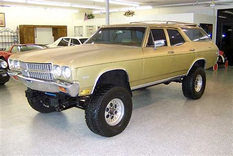 4x4 station wagon 4x4 70 monster station wagon gold american muscle