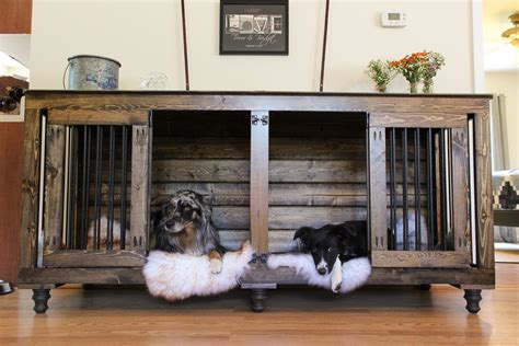 puppy kennels the doggie den indoor rustic kennel for two