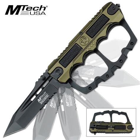 knuckle guard knife mtech ballistic assisted open knuckle guard folding pocket