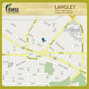 langley canada map fitness unlimited fitness unlimited contact us langley