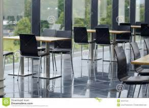 Cafeteria Tables Modern Office Building Cafeteria Seating Area Stock Photo