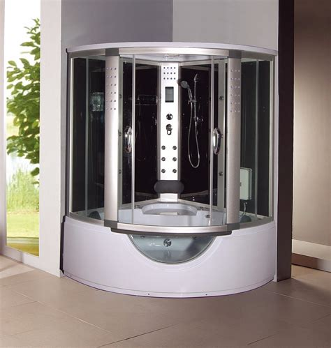 steam shower with bathtub 1001now 9042 corner steam shower enclosure whirlpool tub