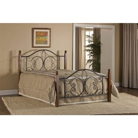 Bed Frames Milwaukee Milwaukee Wood Post Bed Bed Frame Included Textured Black Cherry